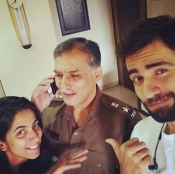 Avinash Tiwary with his father and sister