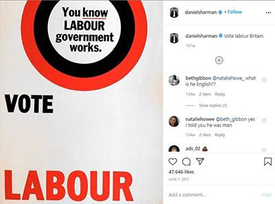 Daniel Sharman Supporting Labour Party