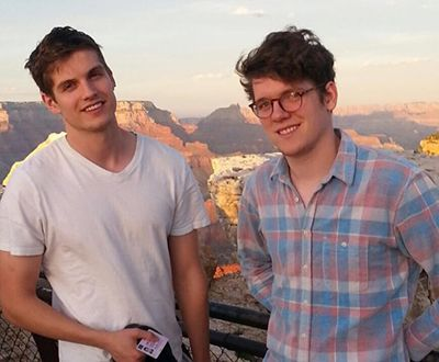 Daniel Sharman with his Brother