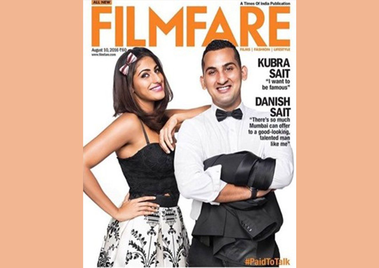 Danish Sait on the cover of the Filmfare magazine