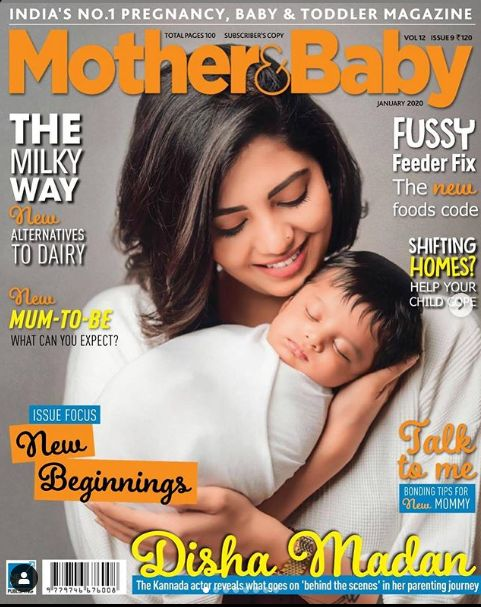 Disha Madan on the cover of Mother & Baby magazine