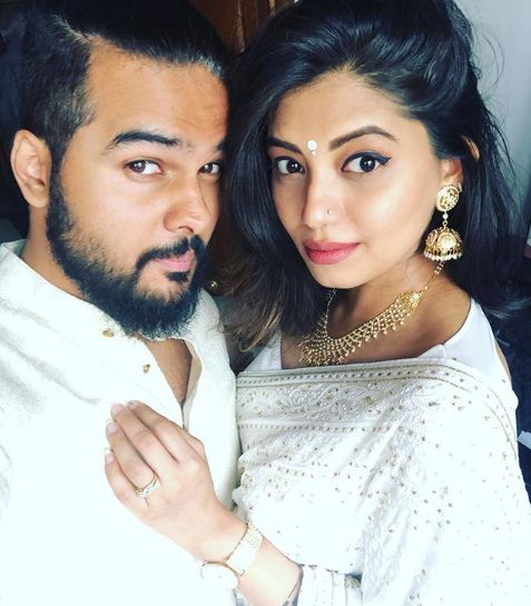 Disha Madan with her husband