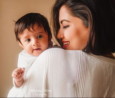 Disha Madan with her son
