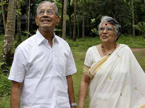 E Sreedharan with his wife