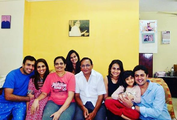 Ekta Saraiya with her family