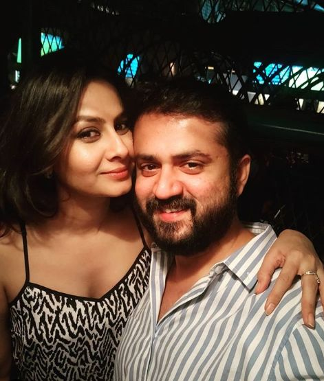 Ekta Saraiya with her husband