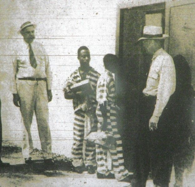George Stinney Jr. entering the execution chamber at the South Carolina State Penitentiary in Columbia