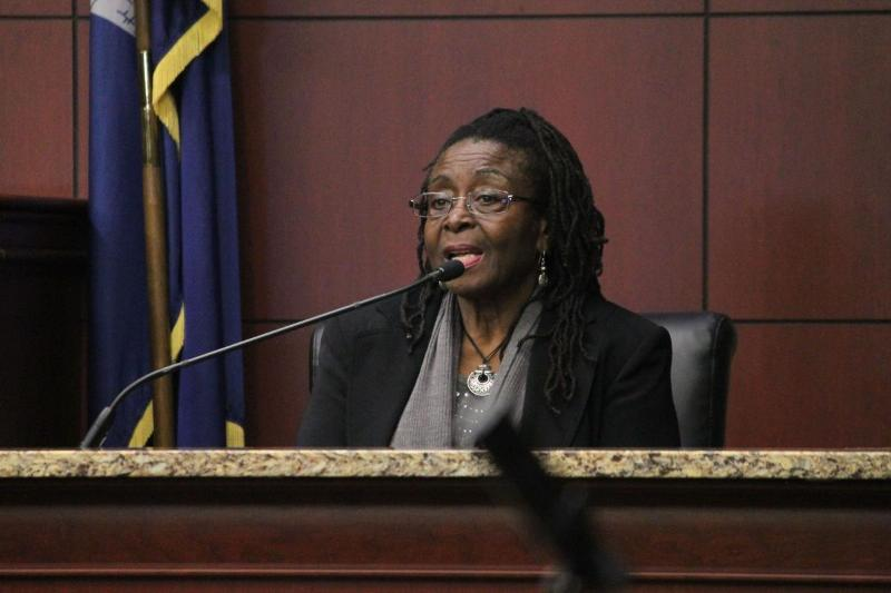 George Stinney Jr's sister Katherine Robinson testifies to what she remembers from the day of his arrest