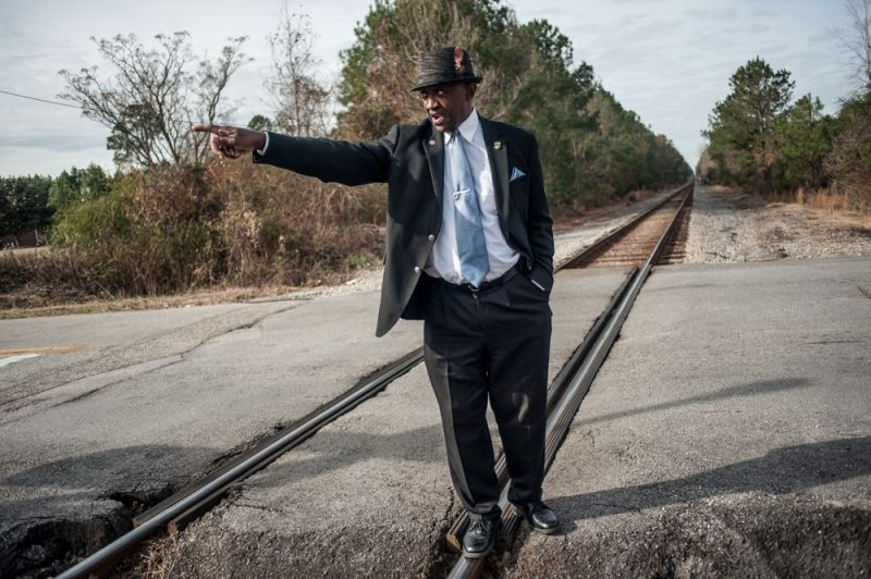 Historian George Frierson on the tracks where Stinney spoke to the victims