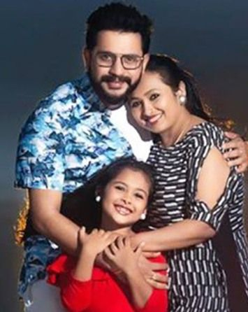 Jayashree Rao with her husband and daughter