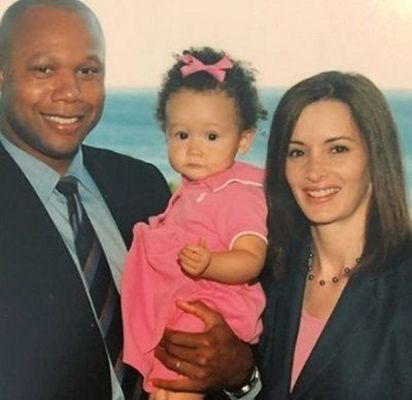Kelly Jackson with her Former Husband and Daughter