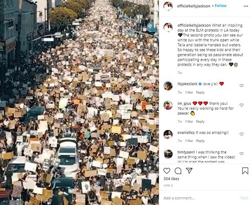 Kelly Jackson's Instagram Post About BLM Protests