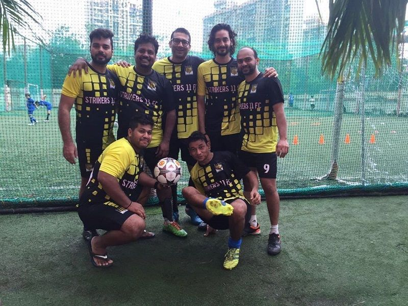 Krishna Bisht With His Football Team