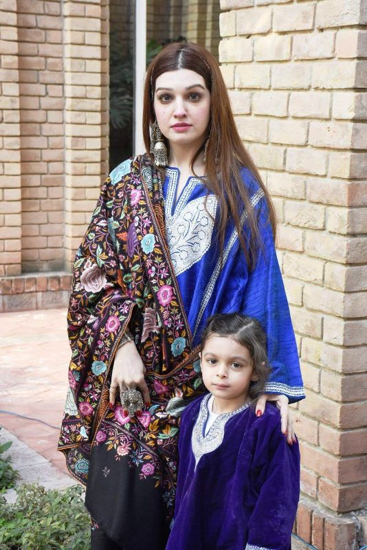 Mushaal with her daughter