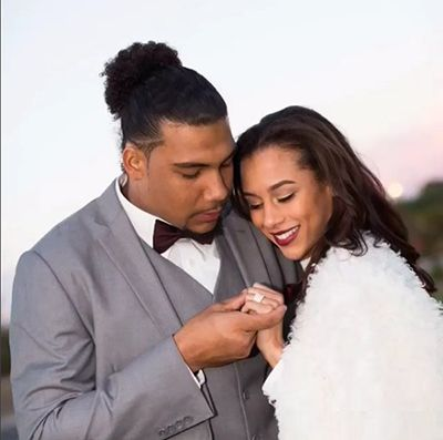 Mychal Rivera with his Wife