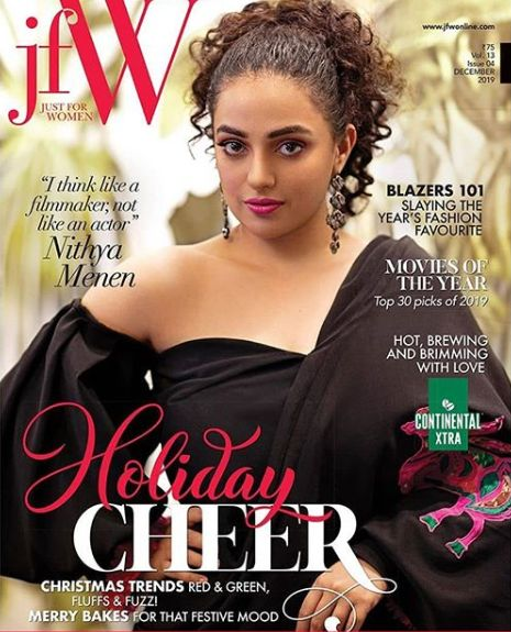 Nithya Menen on the cover of the JFW magazine