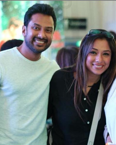 Rupali Ganguly and her brother
