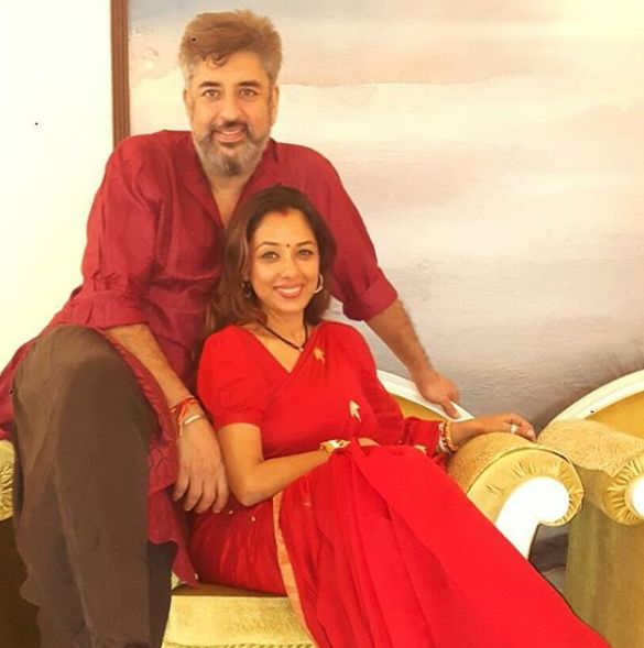 Rupali Ganguly and her husband