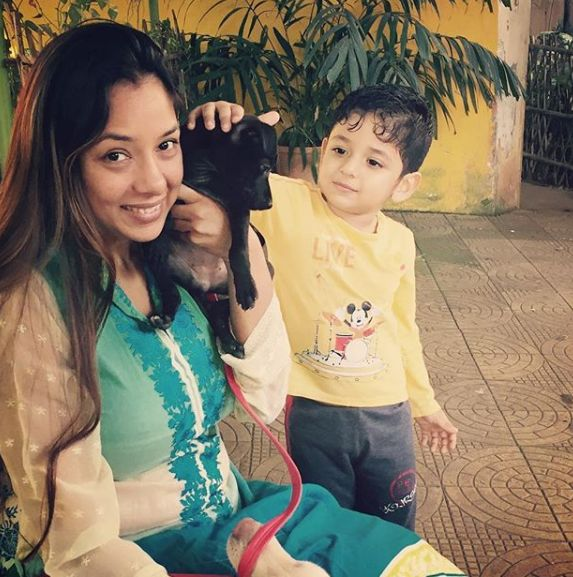 Rupali Ganguly and her son