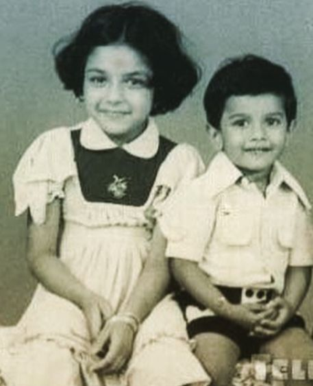 Rupali Ganguly in childhood