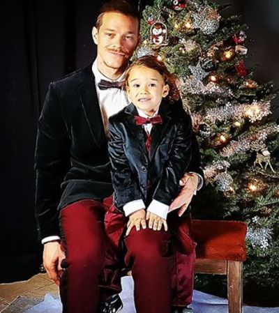 Ryan Dorsey with his Son