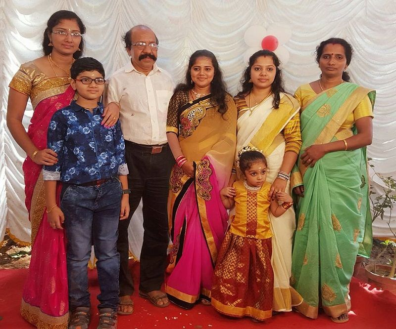 Sai Swetha With Her Parents and Sisters