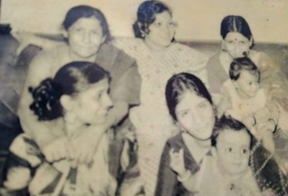 Saroj Khan in her young age