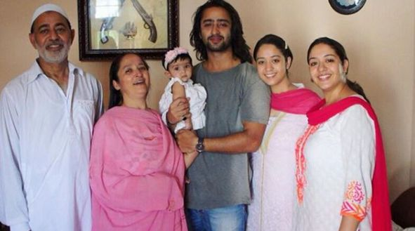 Shaheer Sheikh with his family