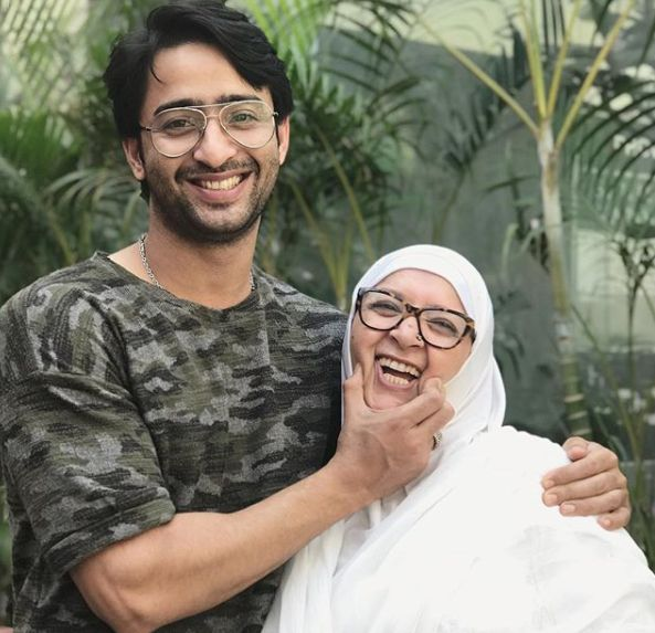 Shaheer Sheikh with his mother