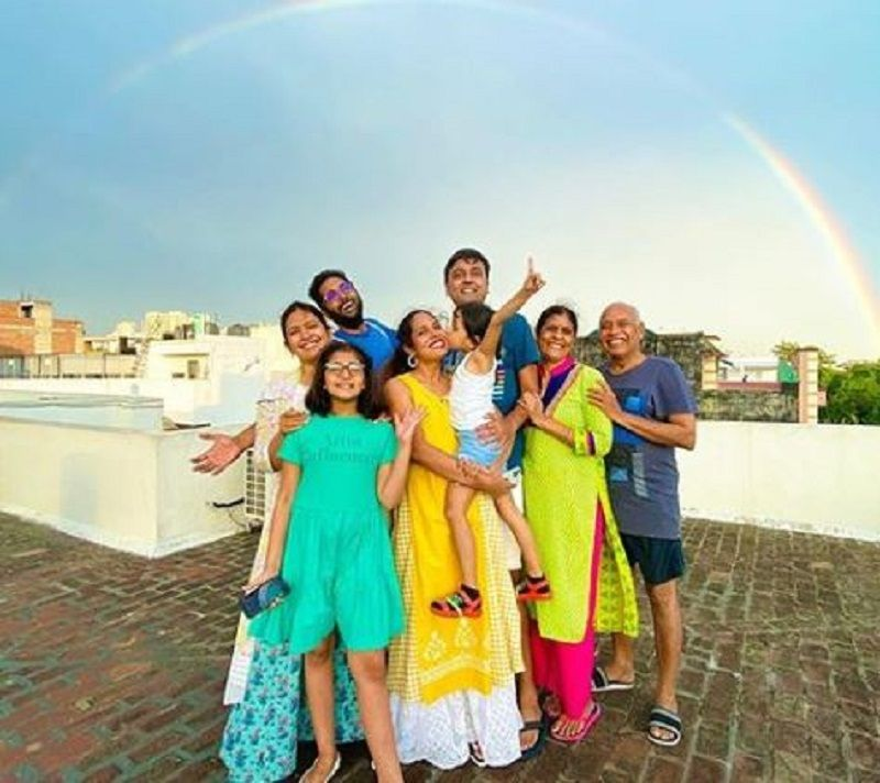 Shruti Arjun Anand With Her Family