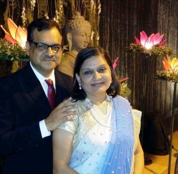 Sima Taparia and her husband Anup Taparia