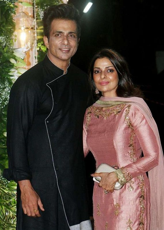 Sonali Sood With Sonu Sood at an Event