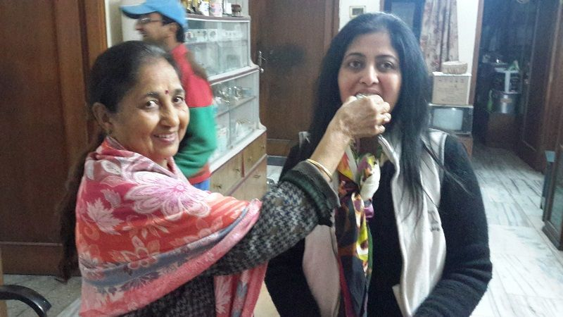 Sujata Paul With Her Mother