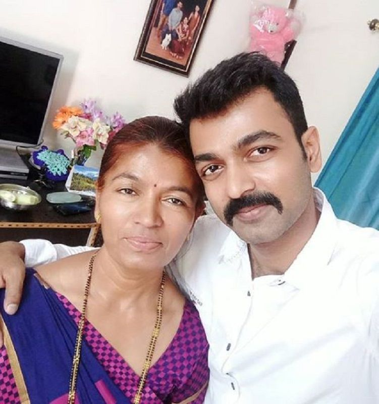 Suneel Gowda With His Mother
