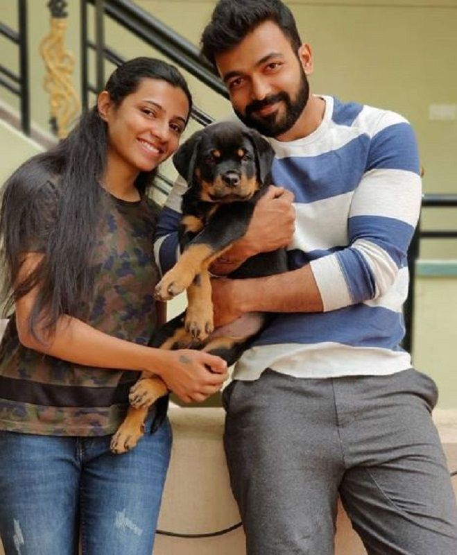 Suneel Gowda With His Pet Dog