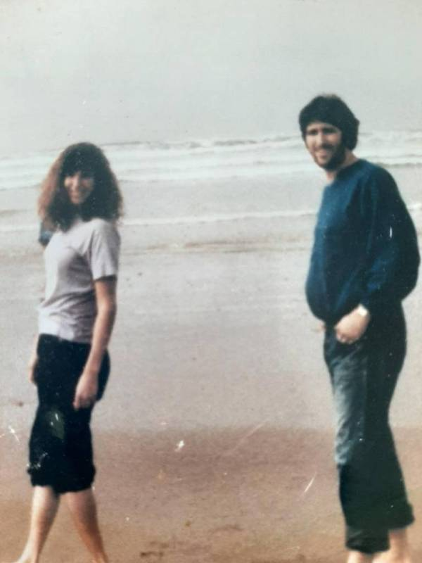 Tara Reade With Her Half Brother Michael Enterline, in 1989