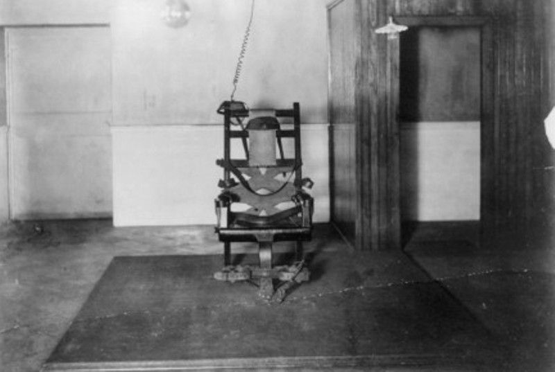 The Electric Chair Used to Electrocute George Stinney Jr