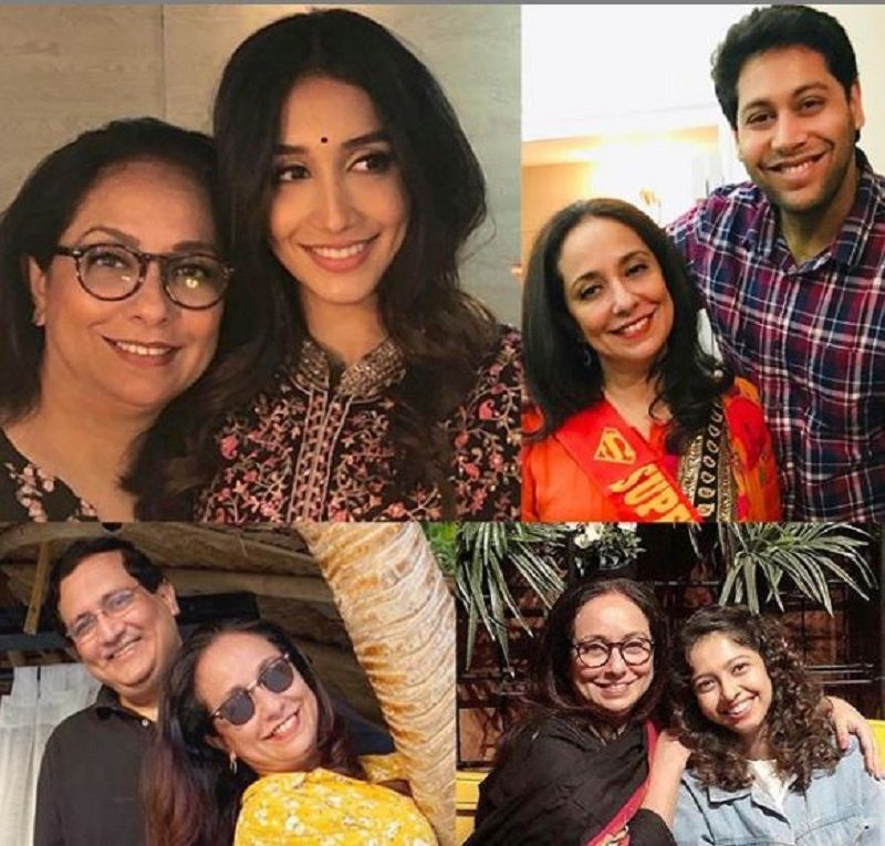 A Collage of Shreya Chaudhary's Family