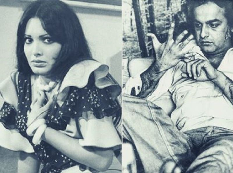 A Cropped Picture of Parveen Babi and Mahesh Bhatt