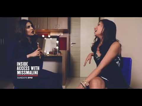 A still from Malini Agarwal's show Inside access with Miss Malini