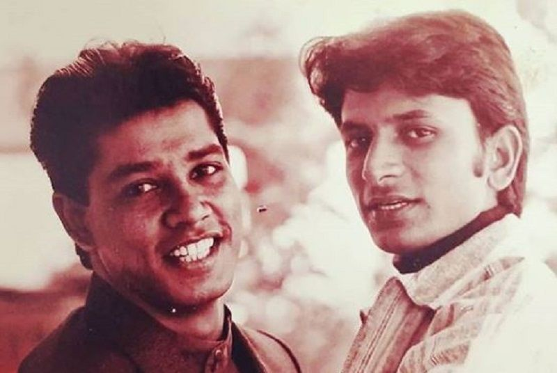 An Old Picture of Anup Soni and Rajesh Tailang