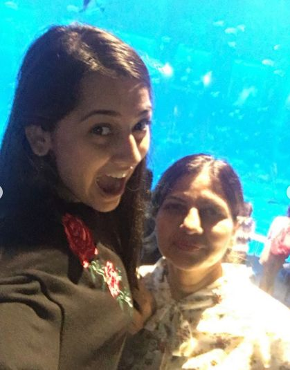 Anagha Bhosale with her mother