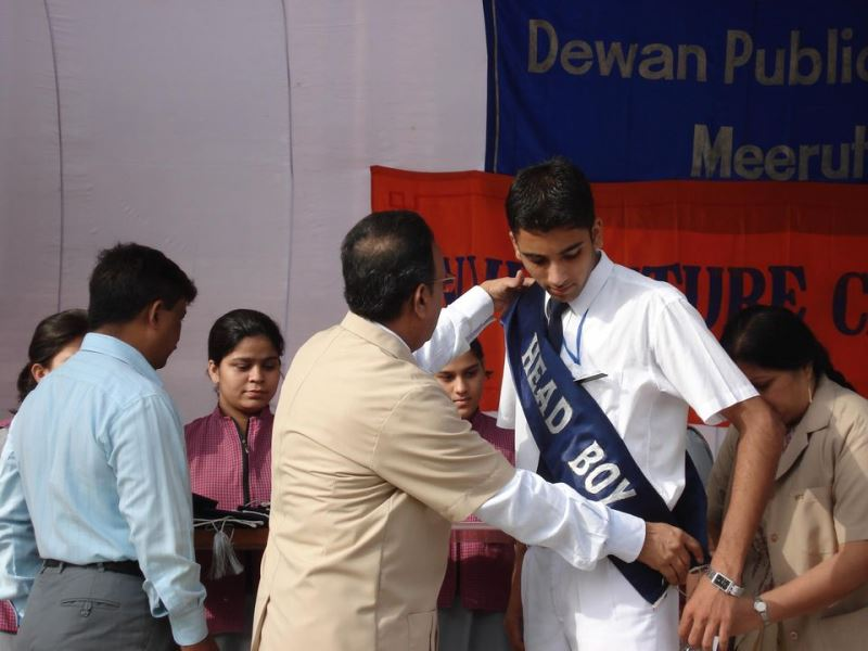 Anubhav being badged as the 'head-boy'
