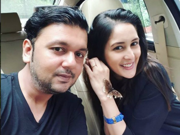 Chahatt Khanna with her ex-husband, Farhan
