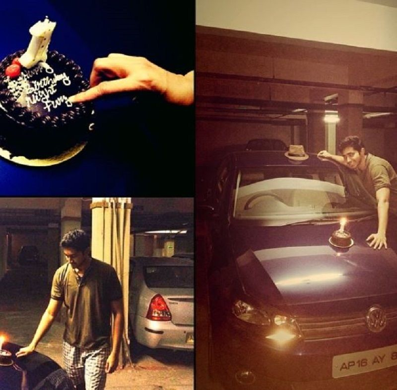 Chaitanya Jonnalagedda With His Car