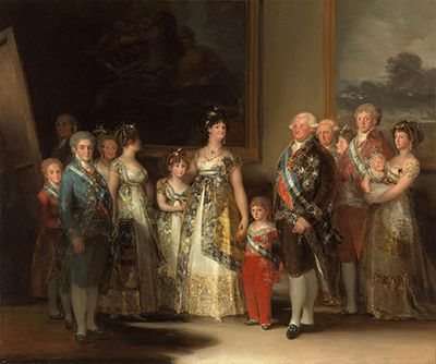 Charles IV of Spain and his Family by Francisco Goya
