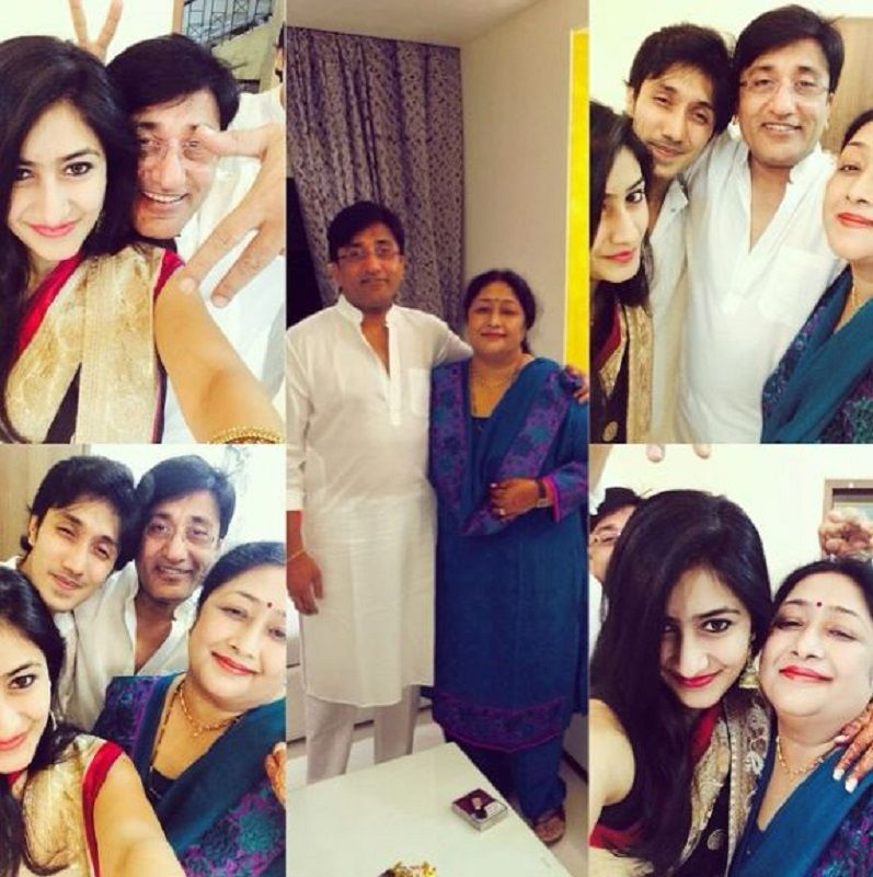 Dhanashree Verma With Her Parents and Brother