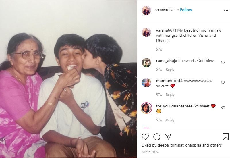 Dhanashree Verma's Childhood Picture With Her Grandmother and Brother