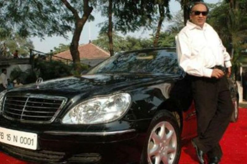Dilip Chhabria with his Mercedes Benz S-Class