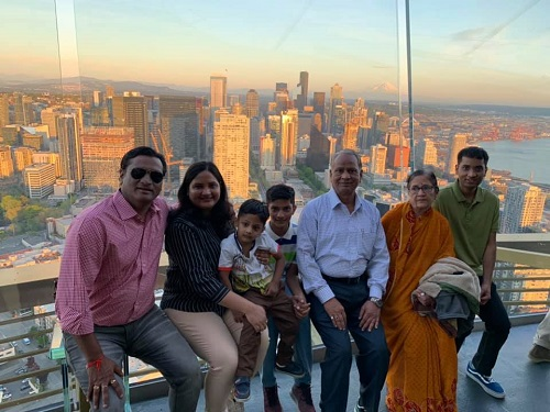 Dr Gautam Bhansali With His Family